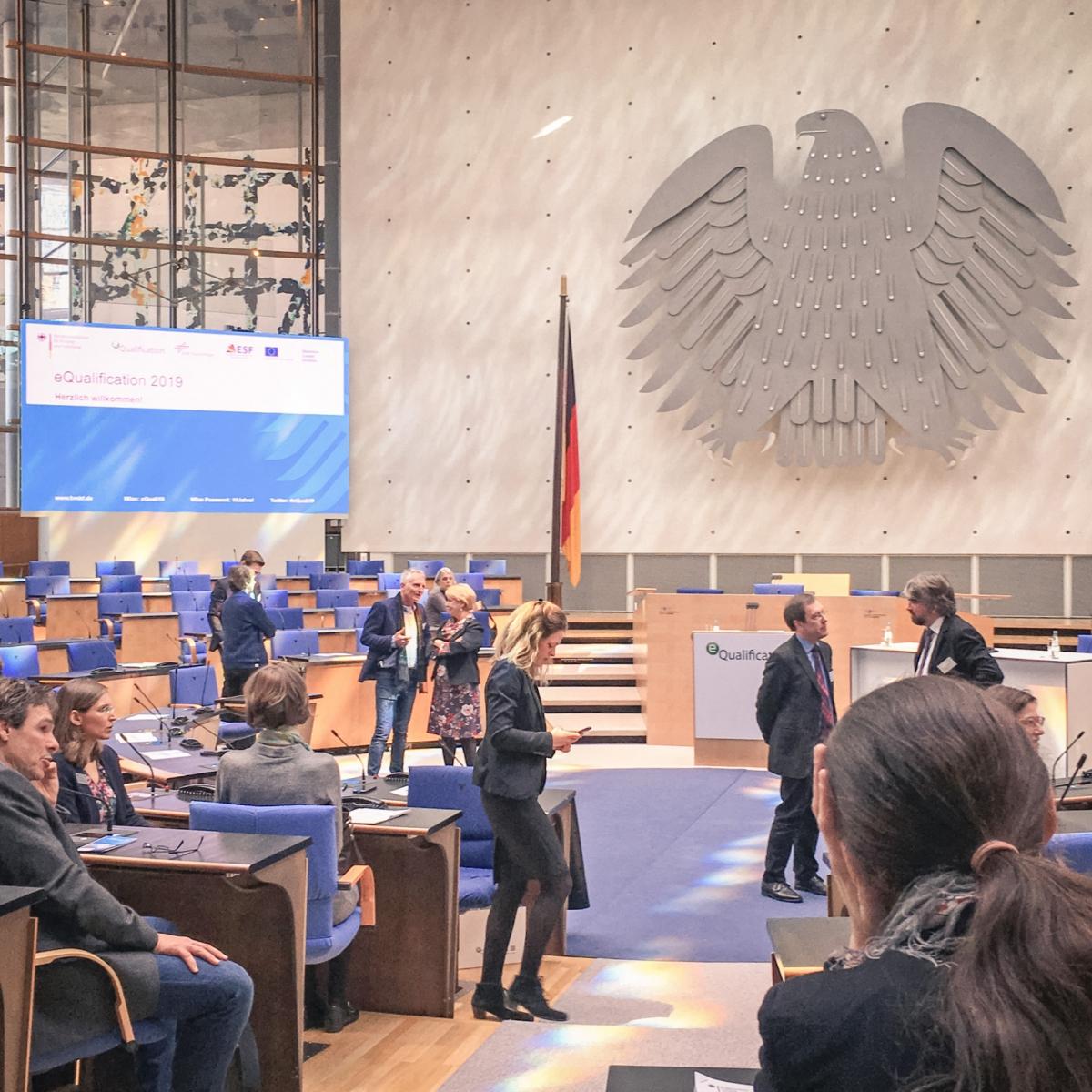Plenarsaal, Teilnehmer der eQualification 2019